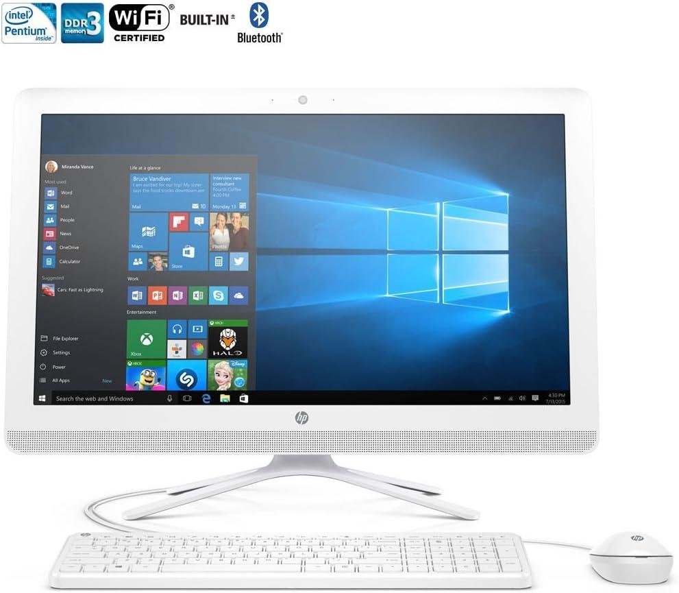 HP 21.5-Inch Full HD IPS All-in-One High Performance Desktop PC, Intel Pentium Quad-Core Processor, 4GB RAM, 1TB 7200RPM HDD Windows 10, Silver (Renewed)