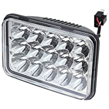 Turbo SII  4x6 Inch Rectangular Sealed Beam LED Headlight Replace HID Xenon H4651 H4652 H4656 H4666 H6545 Projector lens Fit For Peterbilt Kenworth FREIGHTLINER 1PC