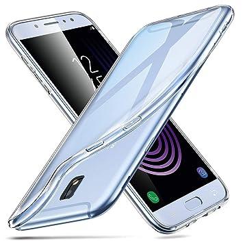 4022592cc42 ESR Funda para Samsung J7 2017 Carcasa Galaxy J7 Transparente Suave TPU Gel  [Ultra Fina][Protección a Bordes y Cámara] Enjaca Samsung Galaxy J7 2017 ...