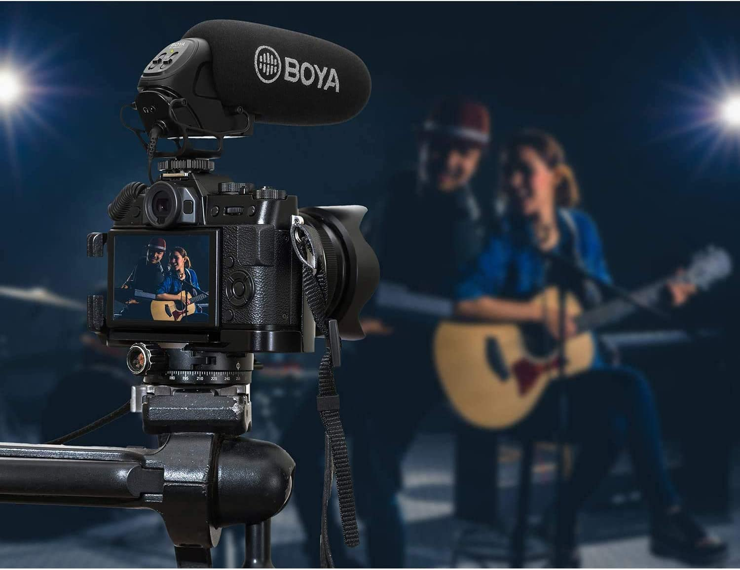 BOYA BY-BM3032 Super-Cardioid On-Camera Video Shotgun Microphone Broadcast Condenser Interview Capacitive Microphone Camera Video Mic Compatible with Canon Nikon Sony DSLR Cameras and Camcorder