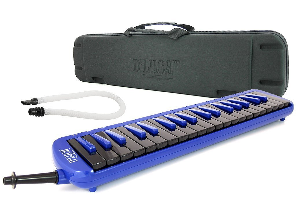 D'Luca M37-EVA-BL Blue 37 Key Jungle Melodica with EVA Carrying Case by D'Luca (Image #1)