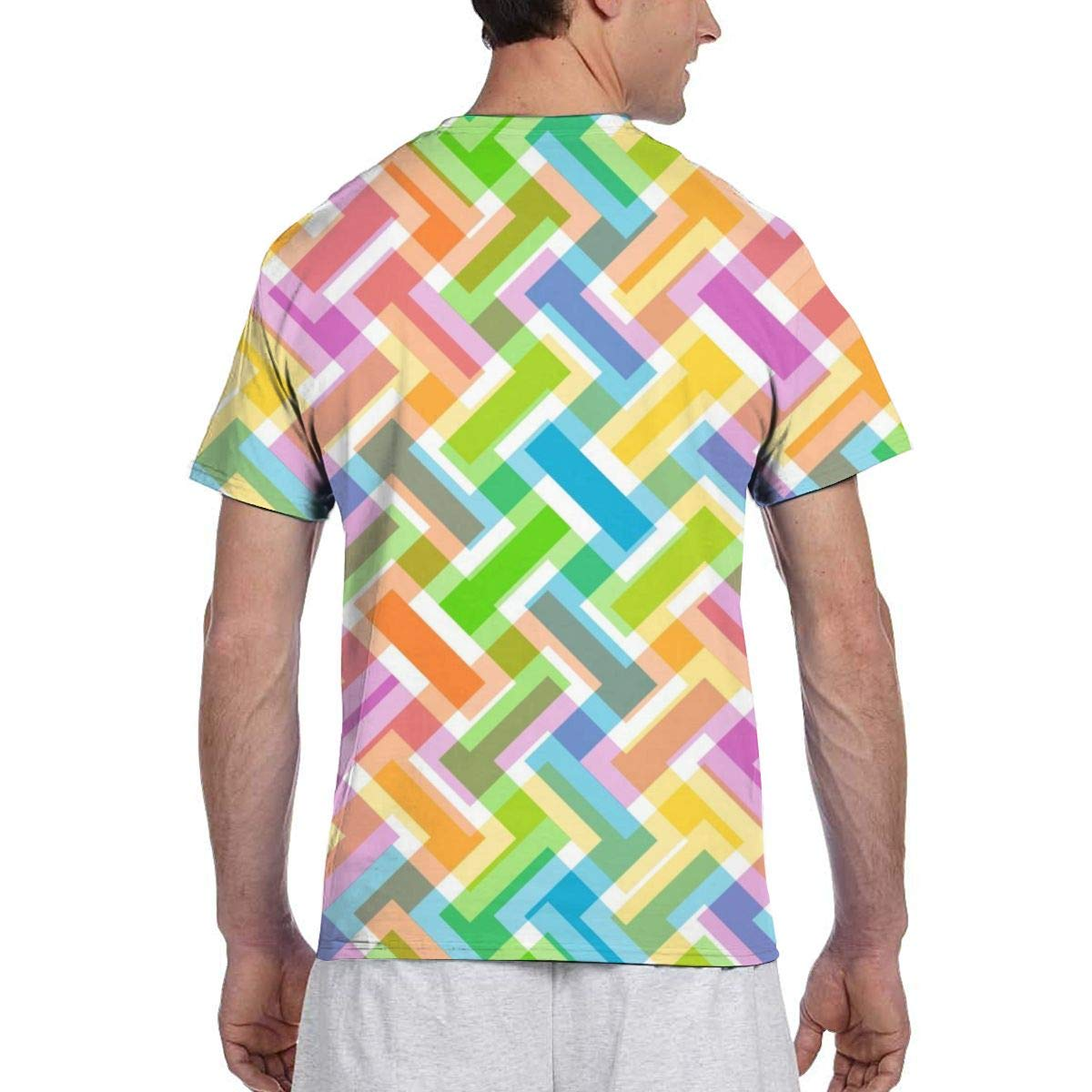 Johnson hop Patrón Abstracto 3D Papel Pintado Colorido Camiseta de ...
