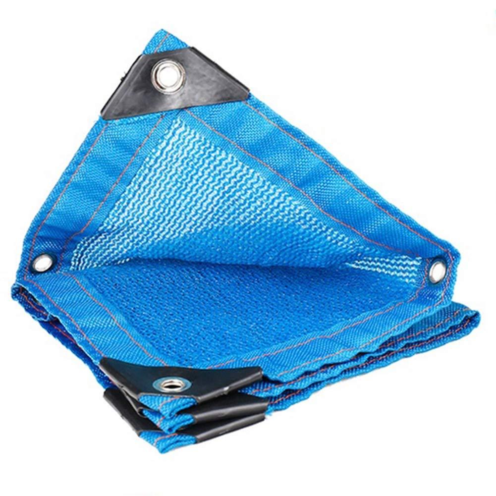 ZHANWEI オーニング シェード遮光ネット 青 6ステッチ シェード 絶縁 カーポート ルーフ 日焼け止め ネットワーク、 23サイズ (色 : 青, サイズ さいず : 4x10m) 4x10m 青 B07PHYTVLH