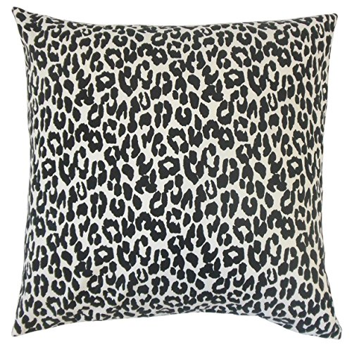 The Pillow Collection Black Olesia Animal Print Bedding Sham, King/20'' x 36'' by The Pillow Collection