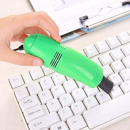 Aspiradora Aspiradora De Mano Aspirador De Teclado Mini Aspiradora USB Mini Aspirador con Cepillo con BateríA Ligero Recargable De Mini Aspirador para Auto Mascotas Casa Y OficinaGreen: Amazon.es: Hogar
