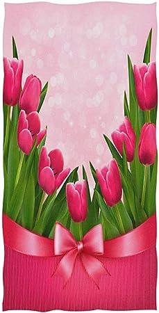 Un Mazzo Di Fiori Composto Da 5 Rose 7 Tulipani.Dliuxf Happy Mothers Day Bouquet Di Fiori Di Tulipano Rosa Con