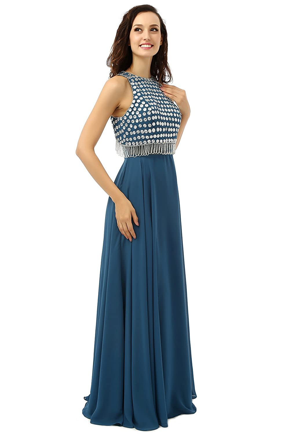 Amazon.com: Butalways Womens Cyan Long Prom Dress Cheap Evening Dress Elegant Party Dress: Clothing