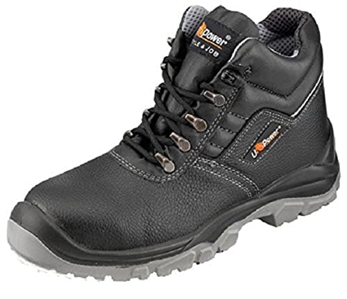 a116653338b U-POWER Reptile Black Hiker Style Steel Toe Cap Safety Boots: Amazon ...
