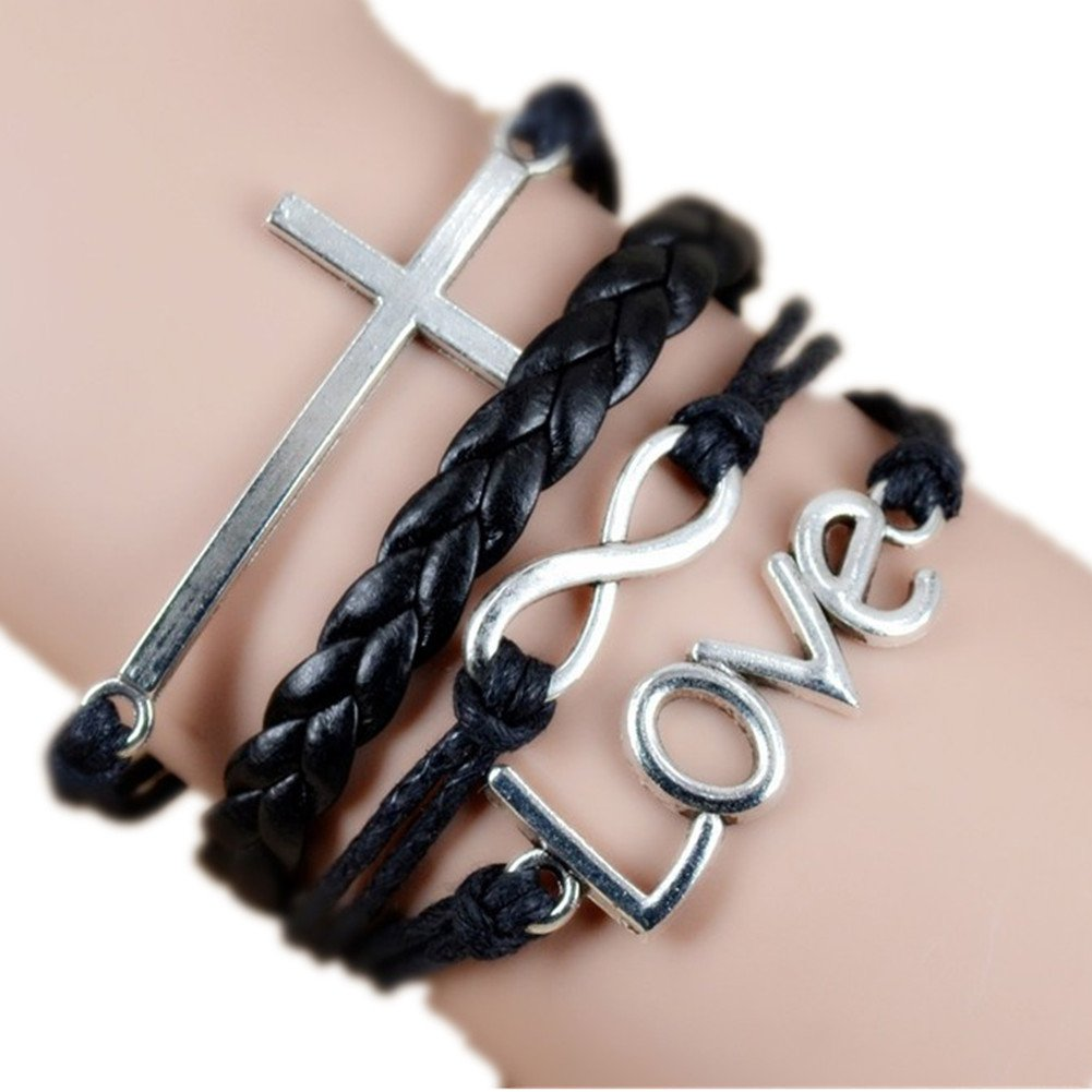 Multi Choice-Vintage Style Leather Rope Love Bracelet ALOV Jewelry B00JXB9BH0_US