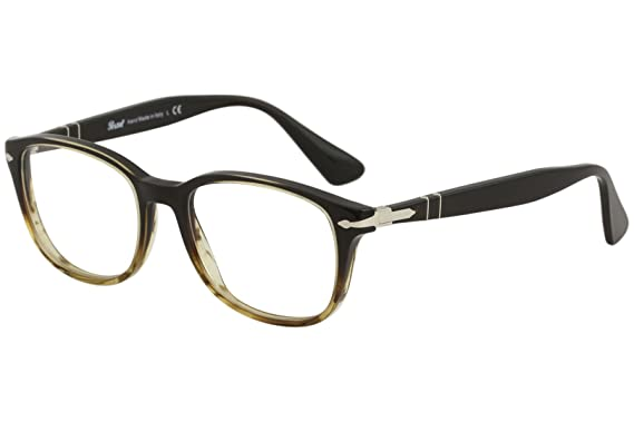 38f28945a8 Image Unavailable. Image not available for. Color  Eyeglasses Persol PO  3163 V 1026 BROWN STRIPPED BROWN