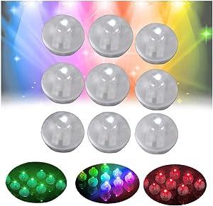 10/50/100PCS LED Ball Lamps, Mini Round Ball Balloon Light Halloween Christmas Decor Light, Light Paper Lantern Wedding Party Decoration