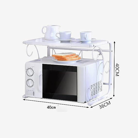 SGMYMX Horno microondas Cocina Estante de microondas Retráctil ...