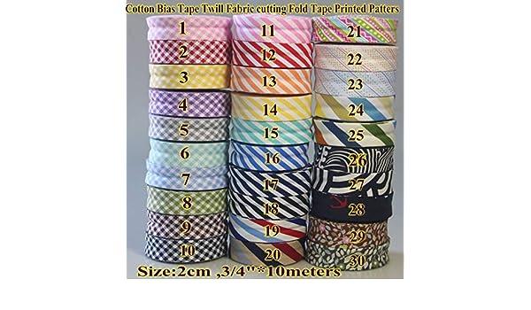 Essential Trimmings 20mm Stripe Print Cotton Bias Binding Tape Light Blue per 25 metre roll