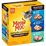 Meow Mix Simple Servings Seafood Variety Pack Wet Cat Food, 1.3 Oz Cups (Pack Of 12 Cups)
