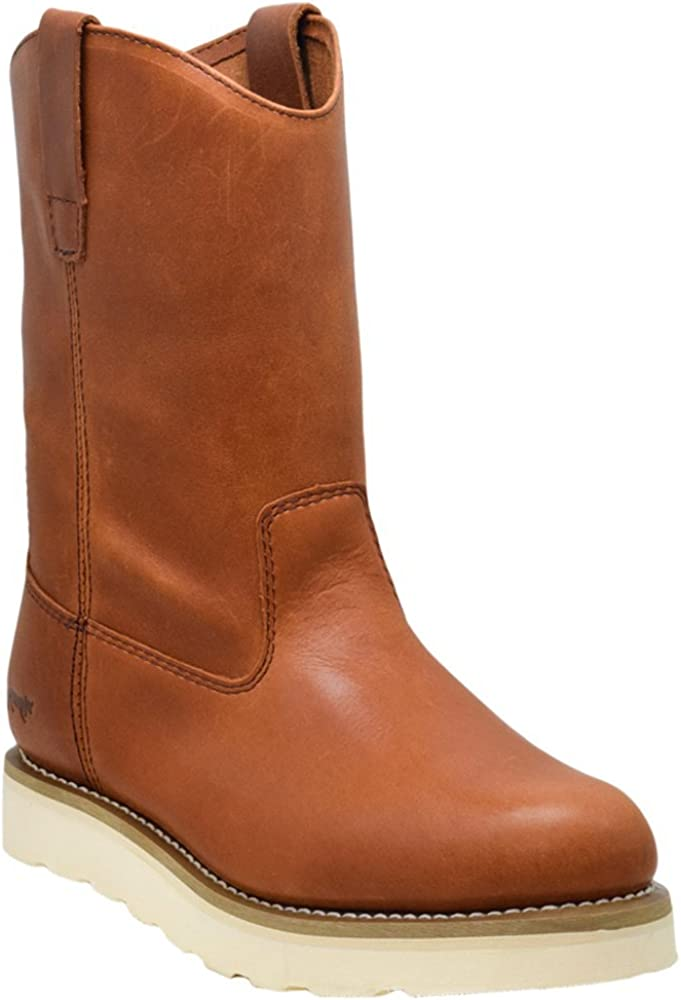 """Golden Fox 12"""" Work Boot Pull On Wellington Wedge Lightweight Outsole for Construction Farming and Ranching"""