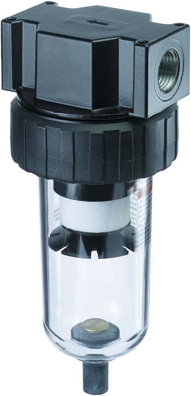 Tru-Flate 24-331 Standard 40 Micron Air Line Filter w//Poly Bowl /& Manual Drain-3//4-14 NPT