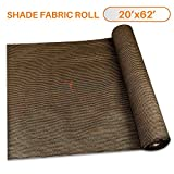 Sunshades Depot 20' x 62' Shade Cloth 180 GSM HDPE Brown Fabric Roll Up to 95% Blockage UV Resistant Mesh Net