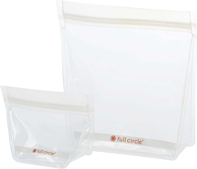 Full Circle ZipTuck Reusable Plastic Bags Mini & Travel Set, Clear