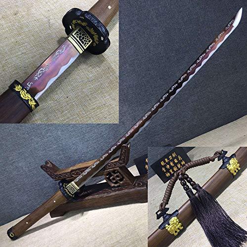Jiang Tong 1095 Carbon Steel Blue Blade HAS Iron Forged Japanese Samurai Swords Set Full Tang Katana (Best Japanese Forged Irons)