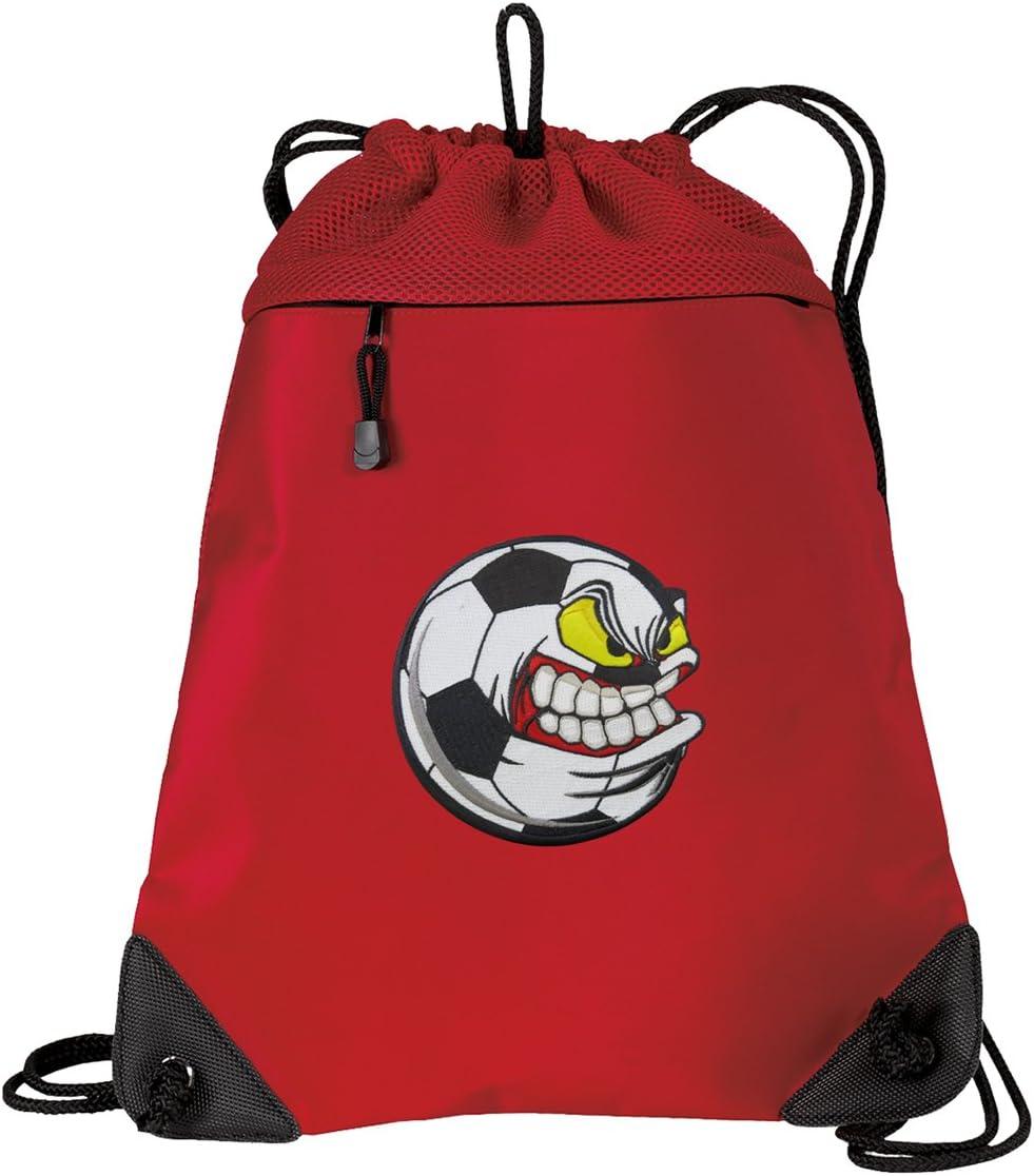Soccer Fan Drawstring Backpack CANVAS Soccer Nut Cinch Pack