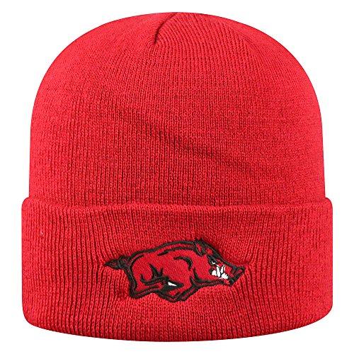 (Top of the World NCAA Arkansas Razorbacks Winter Knit Hat Cuffed Team,)