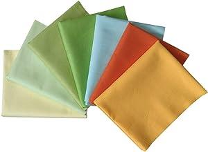 "levylisa 7PCS 18""x22"" Fat Quarters Precut Cotton Fabric Bundles DIY Sewing Quarters Quilting Fabric Kit Orange Yellow Series"