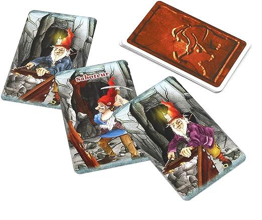 YPF Saboteur 1 & Saboteur 1+2 Juego De Cartas Full Inglés Jogos De Tabuleiro Enano Miner Jeu De Juego De Mesa 64 * 45mm saboteur12: Amazon.es: Hogar