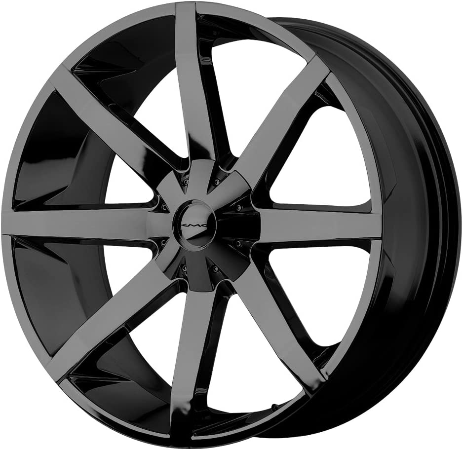 KMC Wheels KM651 Slide Gloss Black 20 Inch Rims