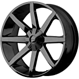 "KMC Wheels KM651 Slide Gloss Black Wheel With Clearcoat (20x8.5""/6x135, 139.7mm, +38mm offset)"
