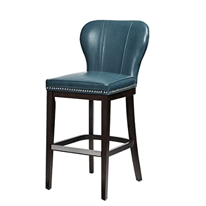 Astounding Amazon Com Hilton Counter Stool Blue Brown See Below Home Machost Co Dining Chair Design Ideas Machostcouk