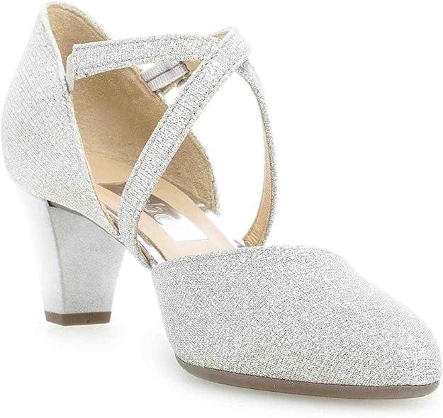 Gabor Fashion Pumps in Übergrößen Silber 21.363.61 große Damenschuhe
