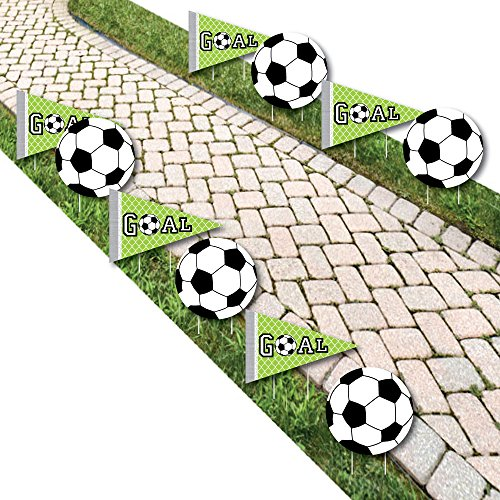 GOAAAL! - Soccer Lawn Decorations - Outdoor Baby Shower or Birthday Party Yard Decorations - 10 Piece by Big Dot of Happiness