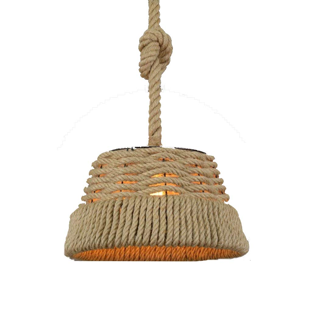 Q-xhc Creative Retro Cafe Bar Clothing Store Hemp Chandelier American Style Country Chandelier (Color : StyleA)
