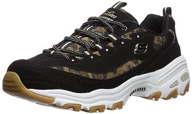 9090fda9e715 Amazon.com   Skechers Women's D'Lites-Quick Leopard Sneaker ...