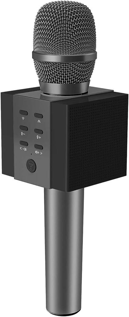 TOSING 008 Micrófono de Karaoke Inalámbrico Bluetooth, Potencia de Volumen Más Alta 10W, Más Bajo, 3-en-1 Máquina de Micrófono Portátil de Altavoz Portátil para iPhone/Android/iPad/PC (black): Amazon.es: Instrumentos musicales