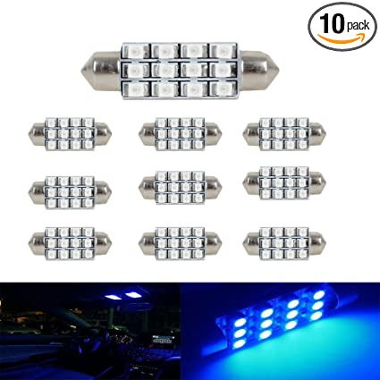 Accessories 10pcs White Great Car Dome 12 3528-smd Led Bulb Light Interior Festoon Lamp 41mm