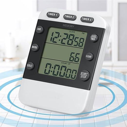 Temporizador de cocina Digital Vamery/reloj con alarma de cuenta ...