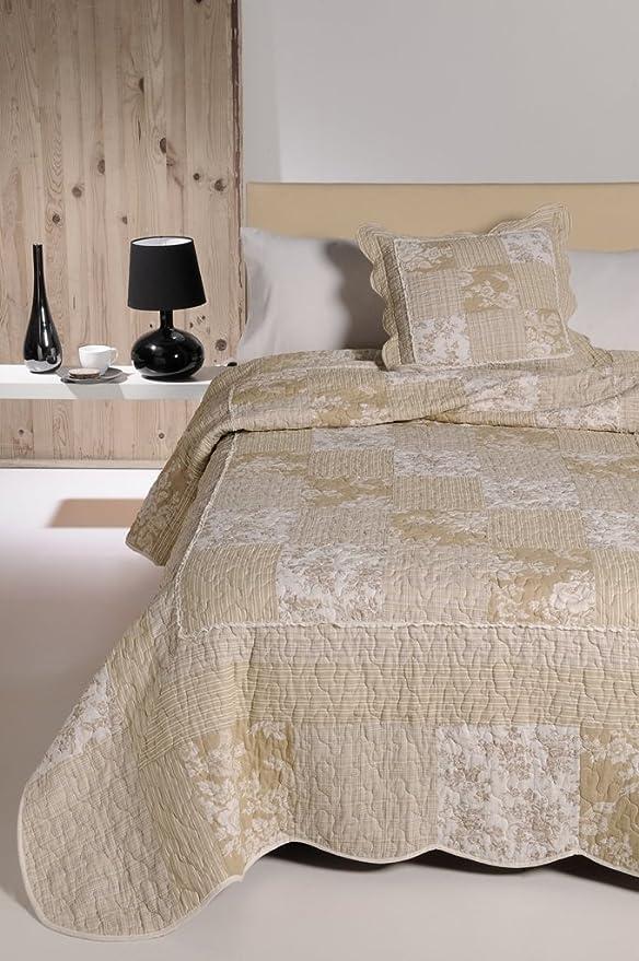 atenas home textile Colcha Algodon 100% Patchwork - Monaco - 180X270 - para Cama 90cm: Amazon.es: Hogar