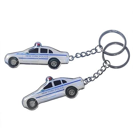 Amazon.com: 2 x Nueva York Police Car metal Keychains de ...