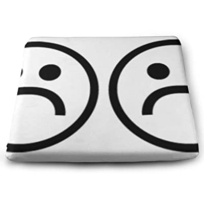 Sanghing Customized Four Sad Faces 1.18 X 15 X 13.7 in Cushion, Suitable for Home Office Dining Chair Cushion, Indoor and Outdoor Cushion.: Home & Kitchen