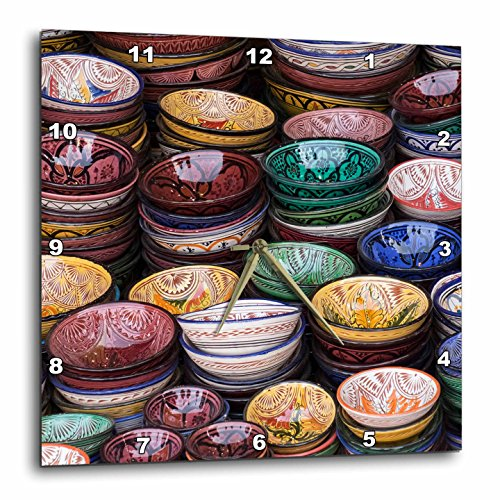 Markets - Morocco, Marrakech. Colorfully painted ceramic bowls