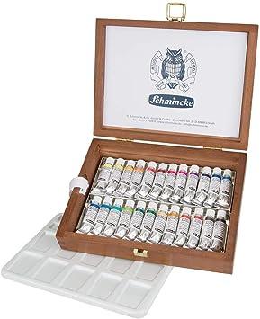 Schmincke Horadam Aquarellfarben 24er Set 5 Ml Tuben In Holzbox