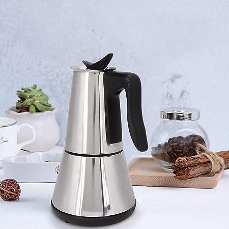 Cafetera eléctrica, cafetera de 300 ml para hacer té, máquina de café espresso portátil con base desmontable, máquina de té de acero inoxidable reutilizable: Amazon.es: Hogar