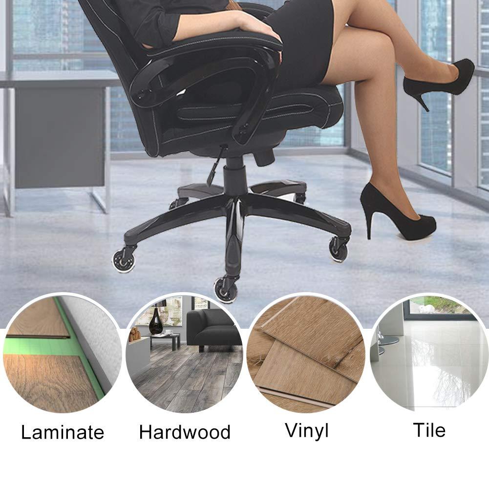set da 10 silenziose e resistenti in gomma PU Rotelle per sedia da ufficio