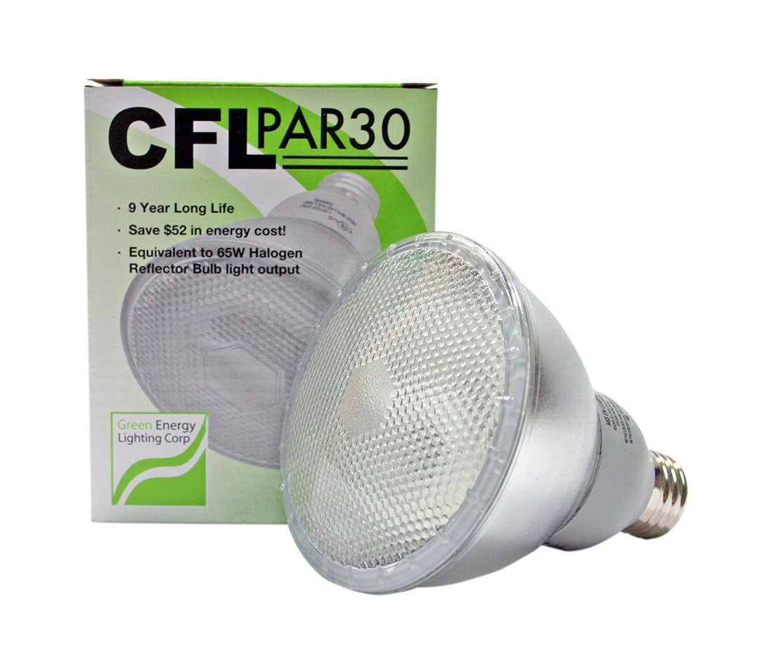 13W CFL PAR30 Fluorescent 4100K Cool White (55W Equivalent)