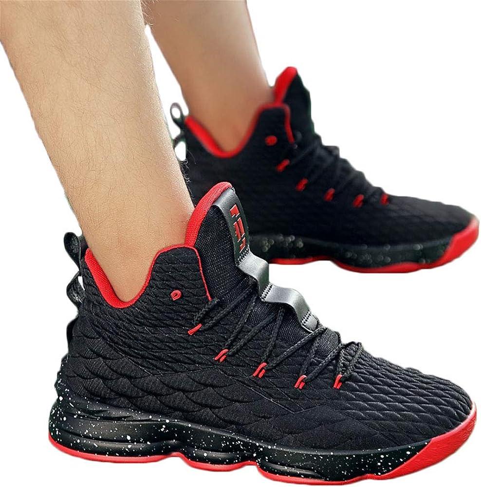 Basketball Herren Schuhe Outdoor Sneakers Turnschuhe Sportschuhe Wanderschuhe rutschfest Footwear Schwarz Rot Champagner Hellgr/ün 36-46