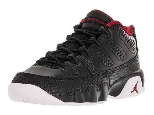 best sneakers 2da92 e4b64 Jordan Air 9 Retro Low BG Big Kid's Shoes Black/Gym Red/White 833447-001 (5  M US)