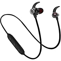 WeCool BassKing X5 High Bass Wireless Bluetooth Earphones with Mic| Waterproof Headphones + Free Carry Case (Black)
