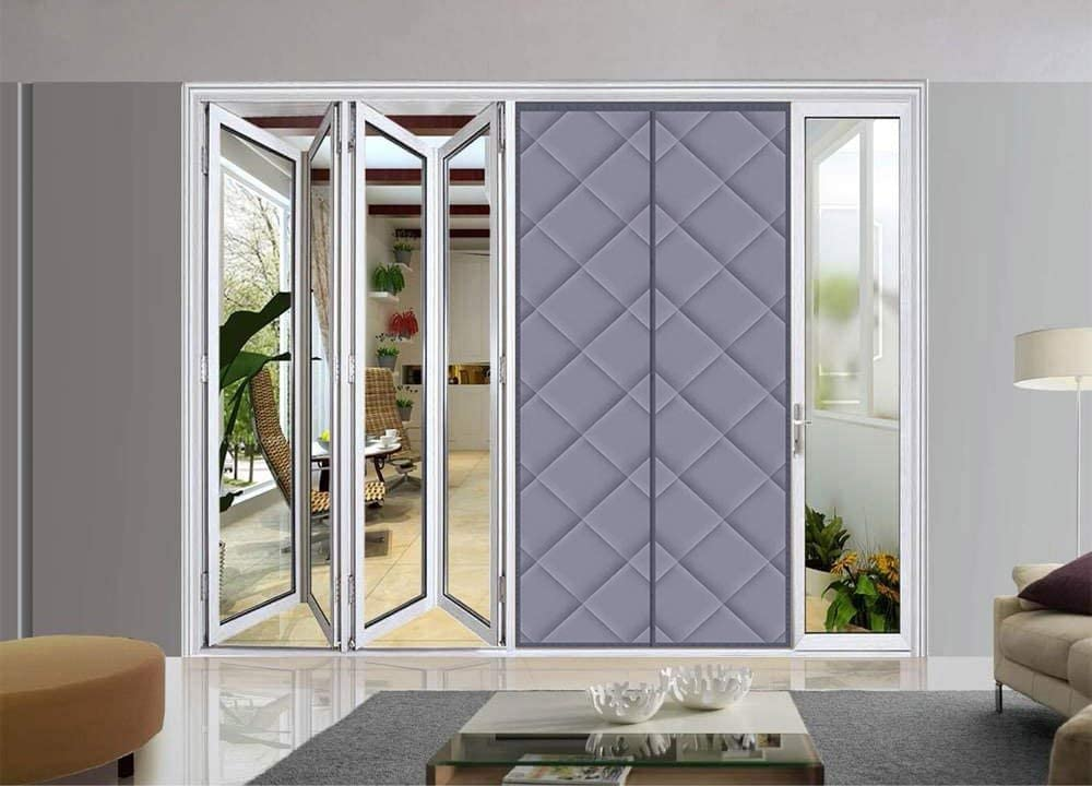 Insulated Magnetic Screen Door for Sliding French Doors gray MENGH Magnetic Thermal Screen Door Curtain Easy to Open and Close 90x230cm