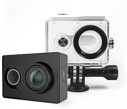 YI Cámara de acción en Pack con Carcasa Resistente al Agua, 16 MP, 2 K, 1080p/60 FPS con Wi-Fi 2,4 G, Bluetooth 4.0, Color Negro: Amazon.es: Deportes y aire libre